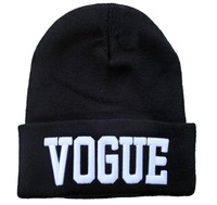 Whosale 100% Acrylic VOGUE Beanie HATS Winter Beanie Hip hop Beanies caps