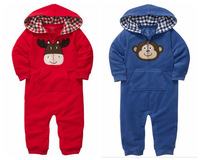 2013New,1pc Retail,Carter's Baby Romper,Baby Girls and Boys Lovely Animal Model Long Sleeve Jumpsuit, Freeshipping IN STOCK