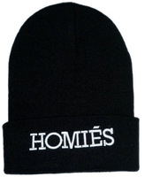 Whosale 100% Acrylic Fashion Hiphop Homies Beanie in Black snapbacks cap and hat