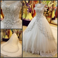 2013 sparkling sexy bandage tube top train wedding dress bride Slim Free Shipping