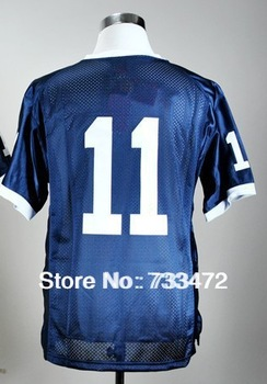 Free Shipping Cheap NCAA Penn State Nittany Lions 11 Navy Blue College Football Jersey Factory Directly Supply