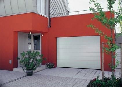 white sectional overhead galvanized steel door garage door(China (Mainland))