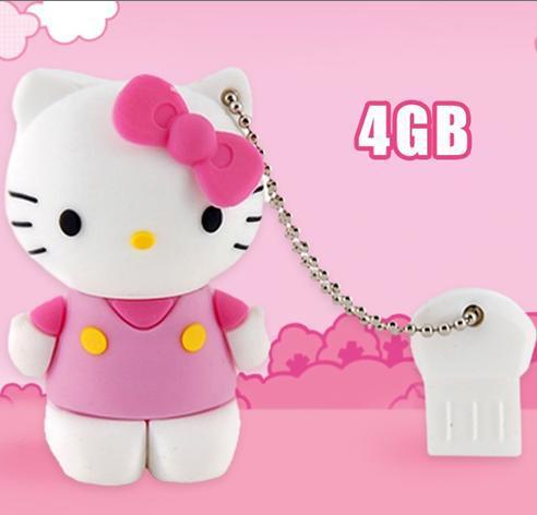 Hello Kitty Usb Flash 1GB 2GB 4GB 8GB,Cartoon USB Drive Wholesaler/Retailer, Free Shipping(China (Mainland))