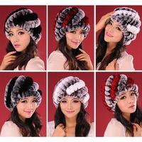 NEW 2014 casual Fur hats for Women autumn-summer  Rabbit Fur hat thicker version Big Pineapple Fur hat Fashion Woolen hat