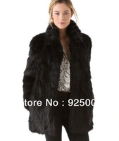 Free shipping Top quality Brand new women Winter Warm raccoon Outwear Fur luxury long Coat Overcoat Jacket for woman