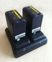 2 U65 Type 65Wh Battery 1 Charger for Video Camera Sony PMW F3 EX1 EX3 EX280