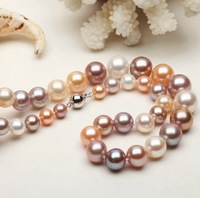 Free Shipping Necklace for women high-grade fashion authentic natural freshwater pearl necklace is round bright and flawless