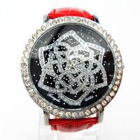 Noble fashion lady camellia diamond women's watch casual all-match fashion table