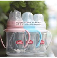 (3 pcs/lot) Top quality baby PP feeding bottle wide caliber 240ml small children milk powder bottle 9001