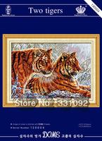 free shipping stitching cross sets embroidery stitch needlework Two tigers