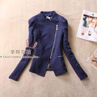 13 female autumn outerwear vintage british style handsome oblique zipper slim elegant long-sleeve blazer