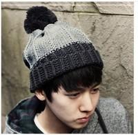 men's  new wave of Korean winter warm winter wool knitted hat ear outdoor recreation