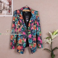 2013 spring fashion ol elegant slim blazer outerwear female casual print blazer