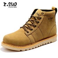 2013 British style men crazy 100% cow leather men's boots martin boots men hiking shoes