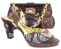 Italian shoes and bags to match women/italian shoes with matching bags TSH-136 coffee free shipping