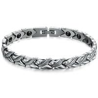2014 New Fashion stainless steel magnetic energy bracelet health bracelet 3347
