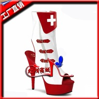 Sexy nurse shoes super-elevation boots 15cm women's thin heels shoes performance shoes