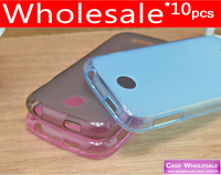 Wholesale * 10pcs Transparent Pudding Soft Skin Gel Case For Lenovo A760 Phone Protective Case