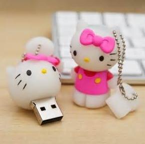 Wholesaler usb flash drive , Cartoon USB Disk 1GB 2GB 4GB 8GB Hello kitty usb 2.0 , Free Shipping(China (Mainland))