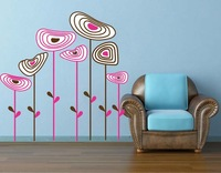 abstract flowers Wall decals living room stickers home decorations  Vinyl art decor