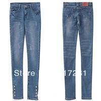 Free shipping , fashion dress autumn - winter women's jeans Slim was thin wild tight pencil pants feet pants