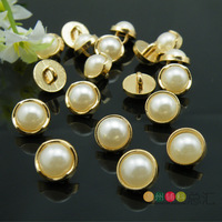 Diy metal button buttons rose gold pearl sweater shirt button beautiful clothes accessories 10mm