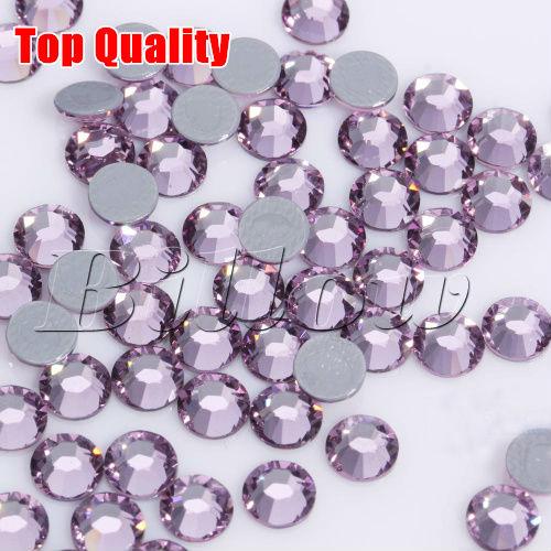 Top Quality! Hot Fix Rhinestone China Best Hotfix Stone SS6 Lt.Amethyet 10gross/bag For DIY Clothing Garments B0526(China (Mainland))