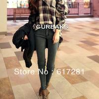 Free shipping fashion casual dress autumn - winter fashion women jeans Slim pencil pants jeans feet stretch backing