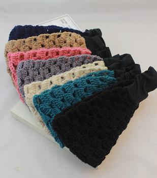 Autumn and winter limited knitted yarn hair band brief elegant decorative pattern elastic bandanas hair band hair accessory