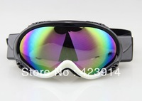 Free shipping Snowmobile Motorcycle Ski Snowboard Goggles eyewear Black & White Coloured lens