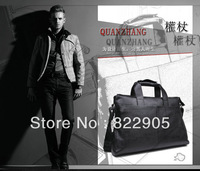 High quality famous brand male commercial handbag fashion shoulder messenger bag cowhide 14 inch laptop bag briefcase