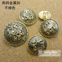 needlework accessory Accessories button buckle metal tea gold button buttons  apparel accessory