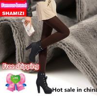 New 2014 Shamizi new autumn and winter 1061 Korean women slim waist big yards thick warm pants  fashion leggings