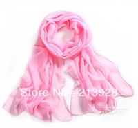 50pcs/lot  Fashion women's chiffon scarf  Pink girl fashion decorative silk scarves Free shipping
