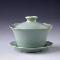 Kung fu tea teacup triratna tureen