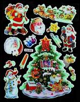 Christmas luminous cards luminous stickers christmas series cartoon luminous stickers