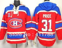 Montreal Canadiens #31 Carey Price  Red Old Time Hockey Sawyer Lace Up Pullover Hoodies Hooded Sweatshirt