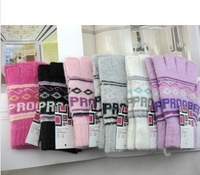 2013 women's semi-finger wool gloves typing gloves Women's wool knit gloves 6 pcs / lot