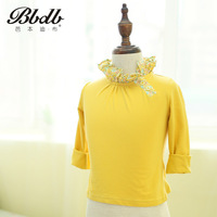 Book 2013 female child 100% cotton long t-shirt children's clothing 2 t-shirt knitted clothing 13602