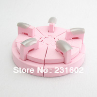 1 pcs/lot Display Nail Art Tips Practice Stand Nail Art Tips Display Stand Tool Pink Sponge Nail Holder