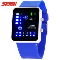 Unisex waterproof led watch personality electronic watch child watch jelly table