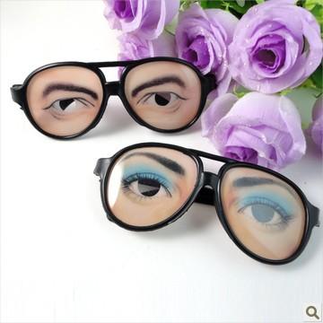 Halloween shock toys funny glasses luminous puzzle(China (Mainland))
