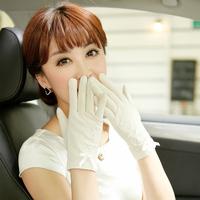 Siggi gloves summer women's short design bow sunscreen gloves anti-uv driving gloves female thin