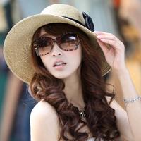 Siggi hat female summer bow strawhat female sunbonnet beach cap sun hat big sun hat