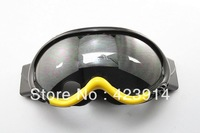 FREE SHIPPING Ski Motorcycle Winter Sports Goggles Eyewear Single Lens Clears Frame BLK&Yellow
