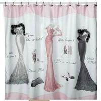 Fashion luxury - evening dress silks and satins waterproof quality shower curtain fitting room curtain fur diamond lead wire