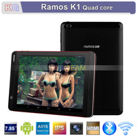 "Ramos Kudos K1 7.85"" IPS Screen Mini Pad Tablet PC A31S Quad Core Android 4.2 Bluetooth HDMI WIFI 2.0MP+5.0MP Dual Cameras"
