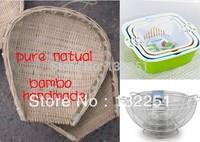 free shipping Handmade drain basket fruit basket vegetables basket unique bamboo crafts pule natural healthy Kitchen Sinks