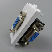 New style VGA Wall plate  F-F with angle side