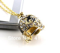 free shippingthe football helmet of New Orleans Saints with crystal sport pendant necklaces